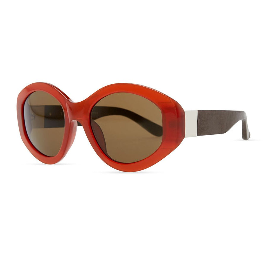 Row 71 Thick Plastic Oval Sunglasses
