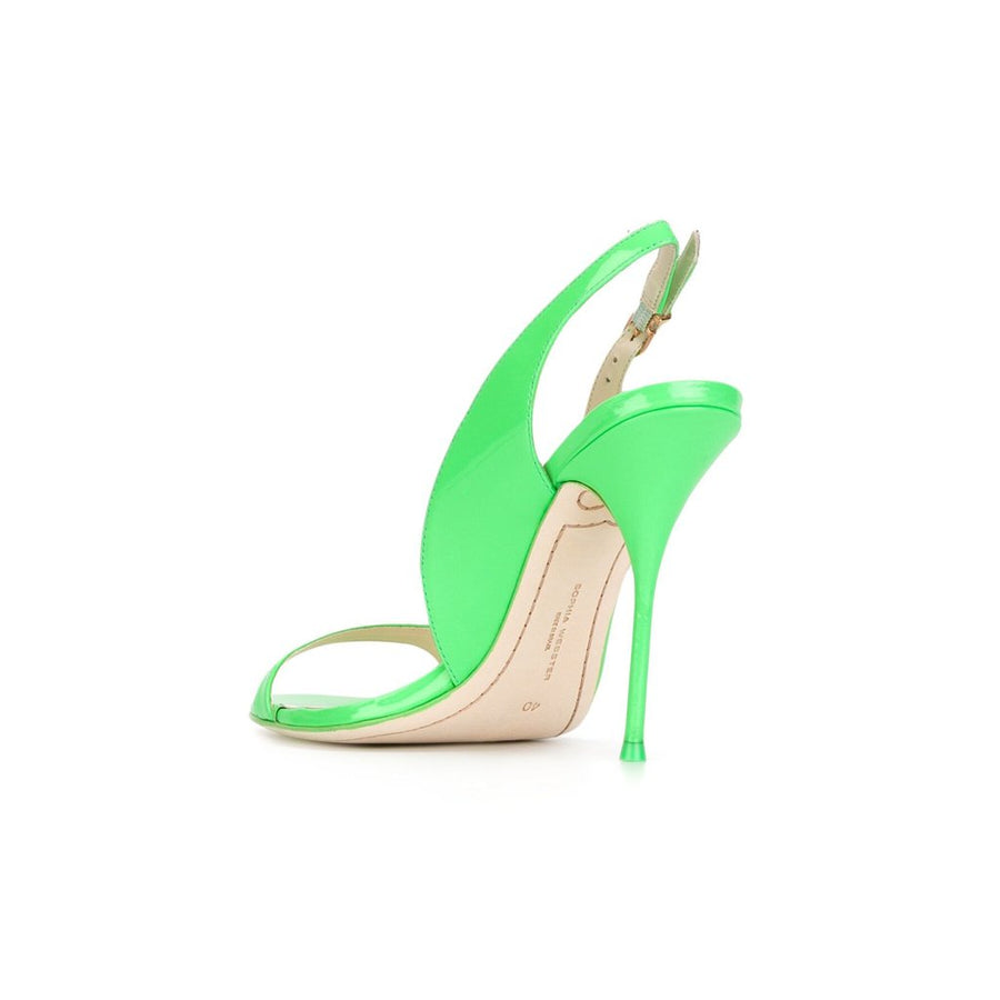 """Claudie Meadow"" Green sling back pumps"