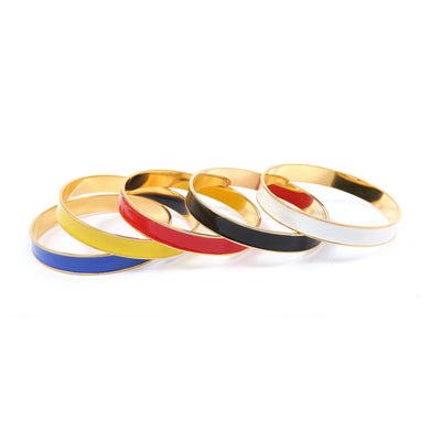 Channel Bangles, set of 5'.