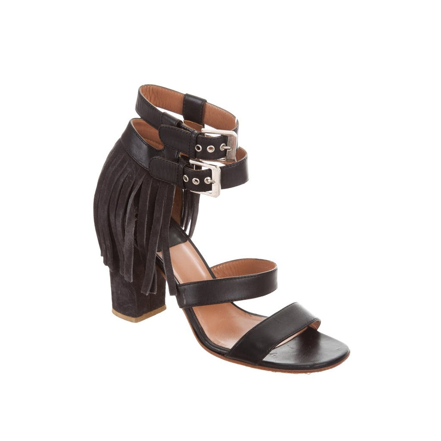 Fringe Leather Sandals