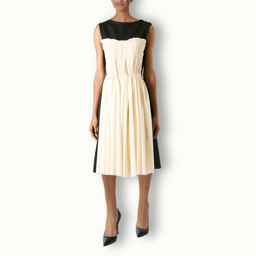 Bicolor Sleeveless Dress