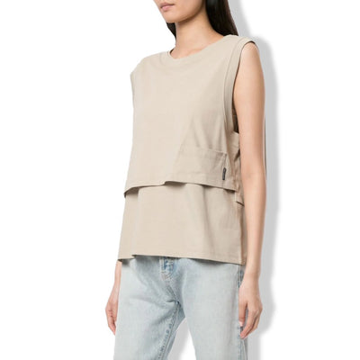 High twist Layered Top