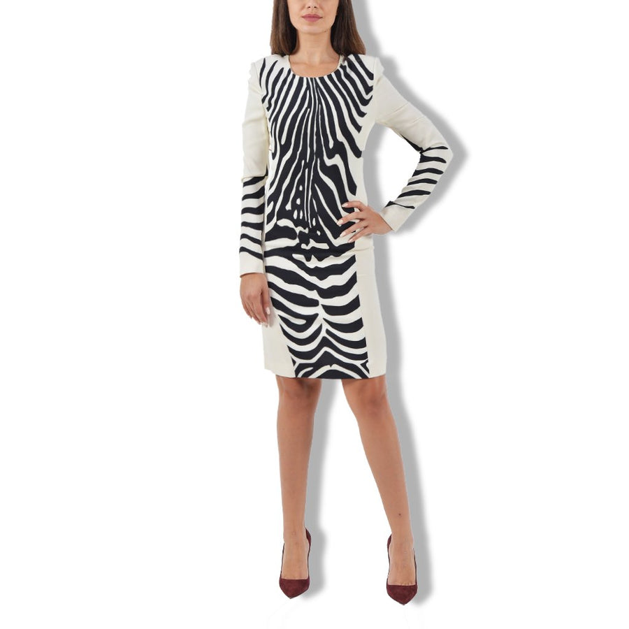 Zebra white dress