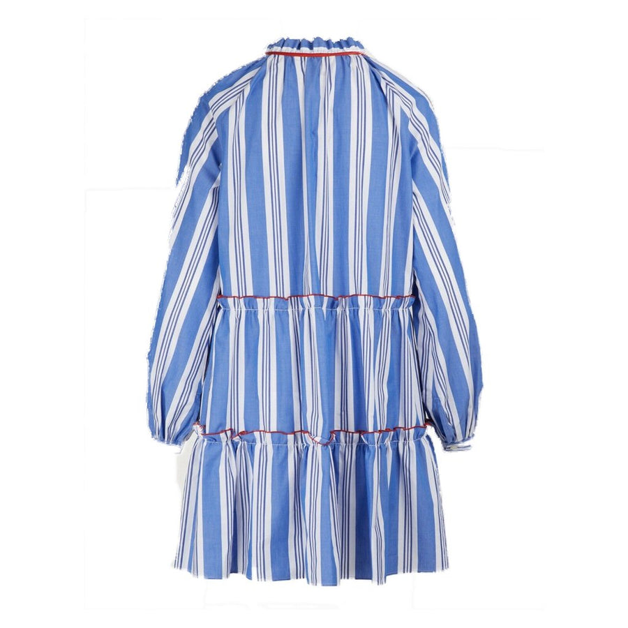 Long Sleeved Striped Cotton Dress