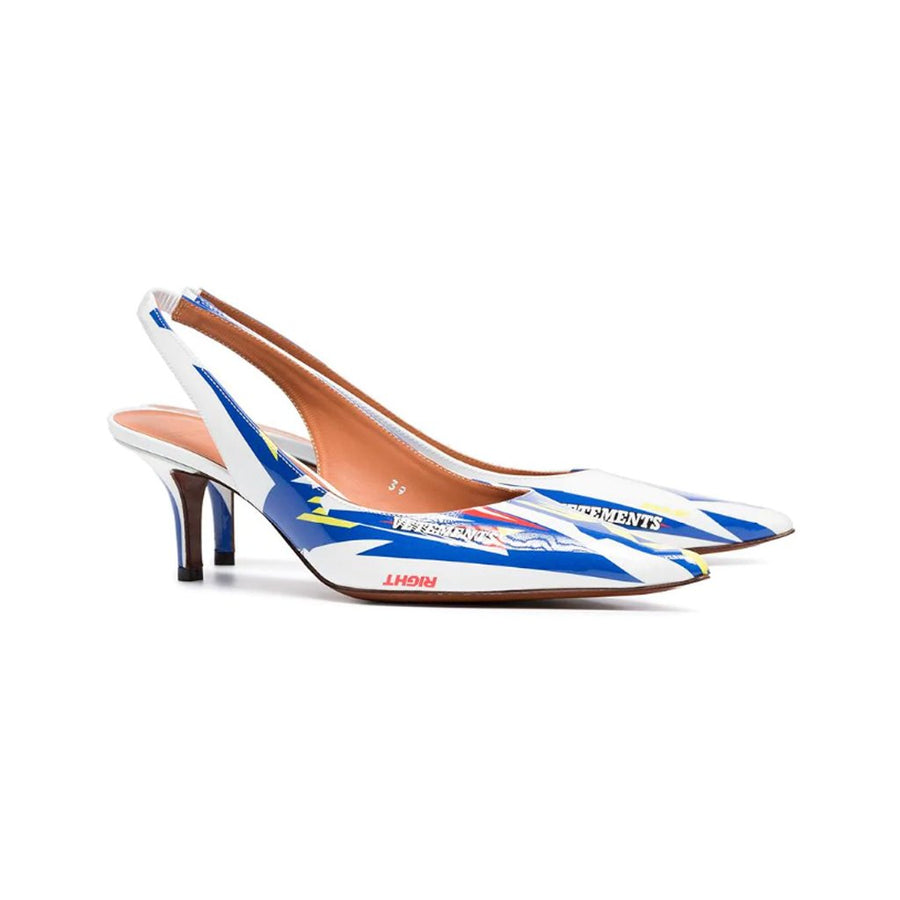60 Slingback Leather Pumps