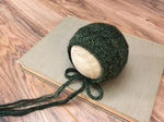 Forest Green Merino Bonnet