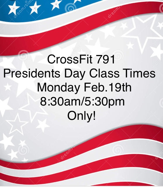 Notice Change: Monday Class Times for Presidents Day