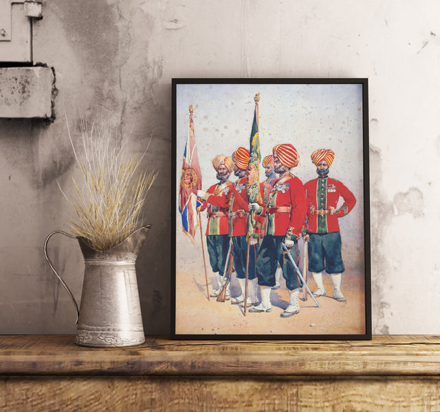 Classic Sikh Soldiers Art from 1800s