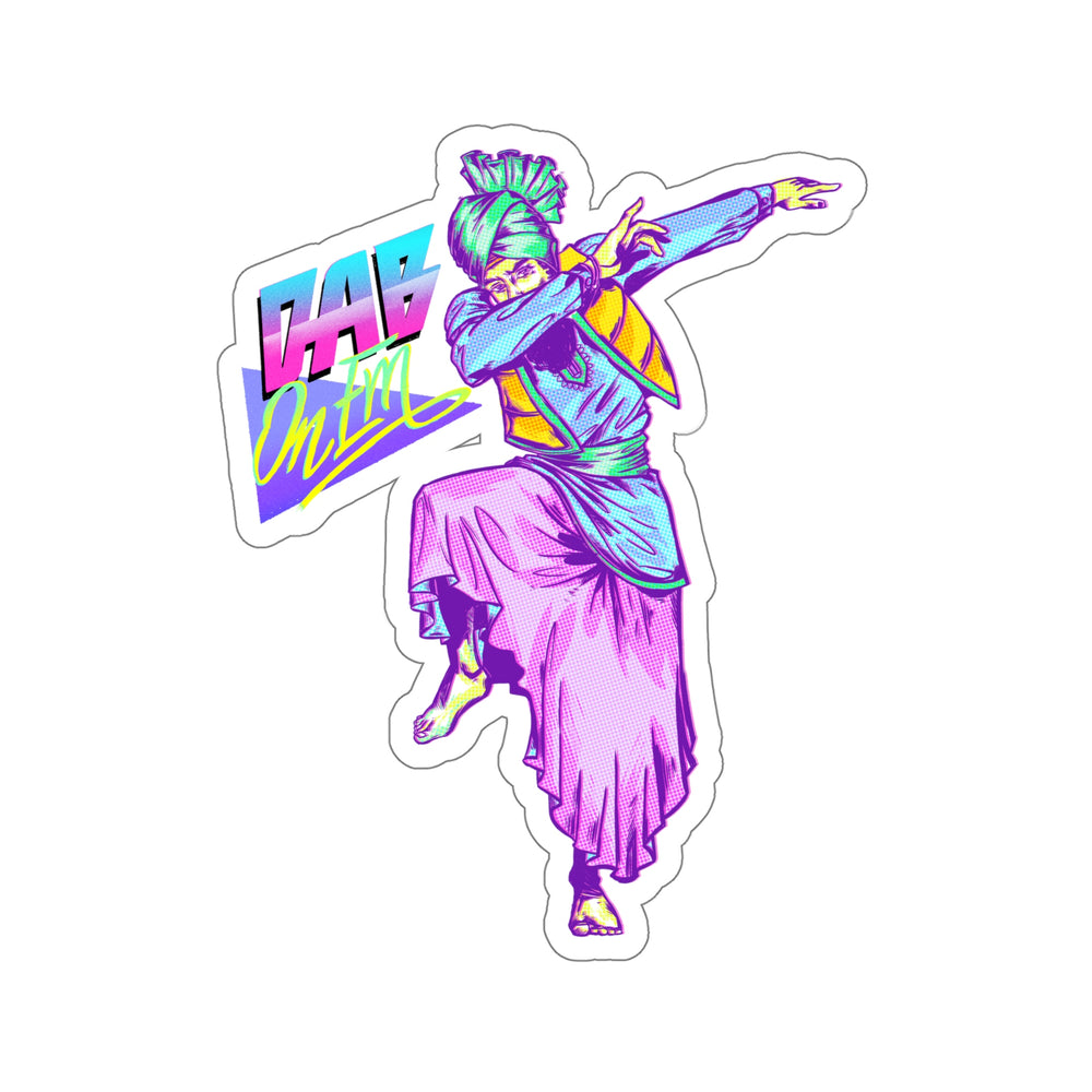 Bhangra Dab Retro - Decal Sticker - Sikhexpo