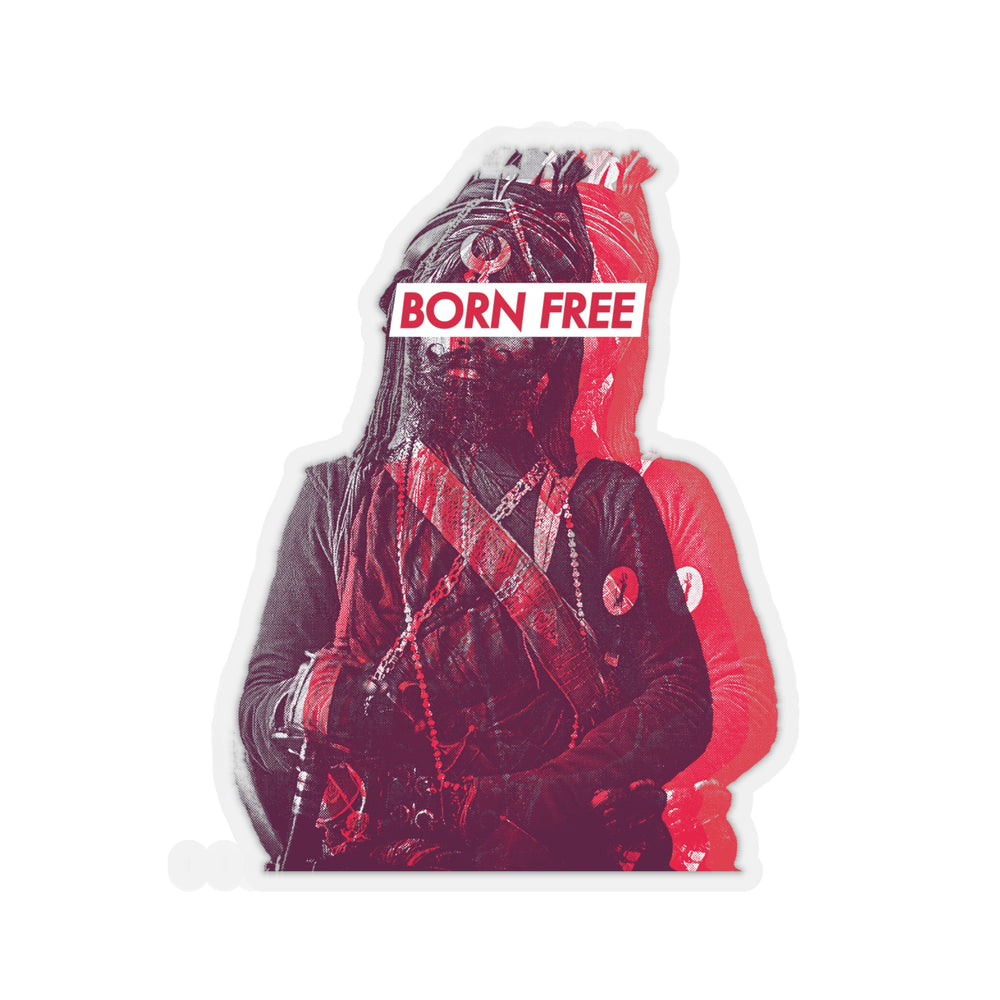 Born Free (fire red) - Decal Sticker - Sikhexpo