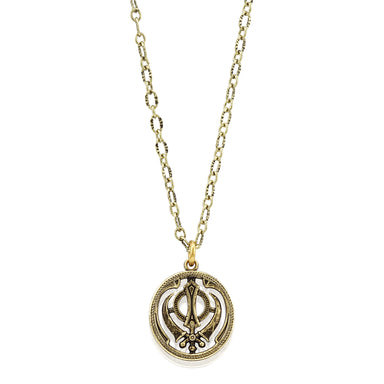 Antique Khanda Necklace - Sikhexpo