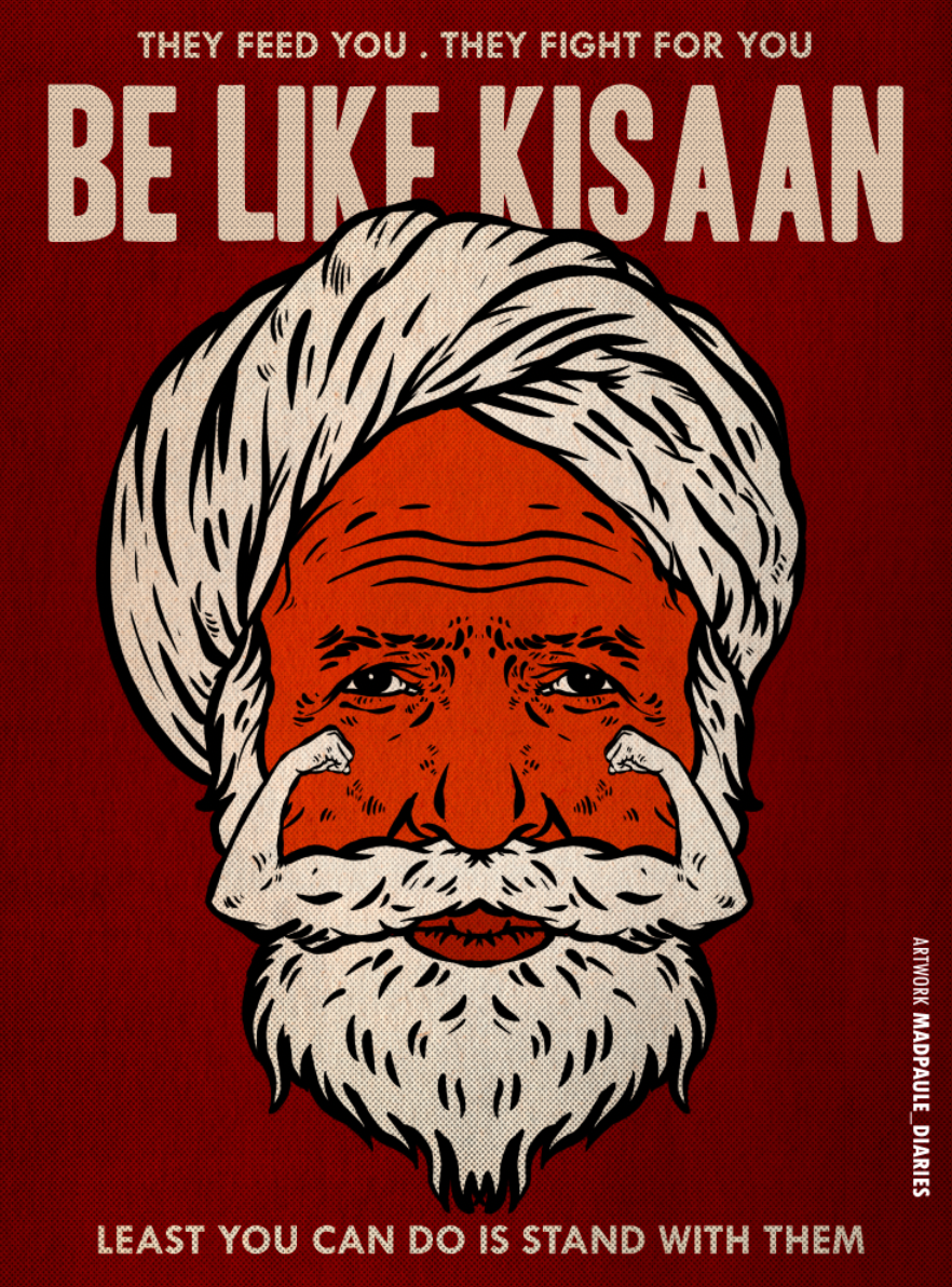 Be Like Kisaan Art Poster - FREE FILE