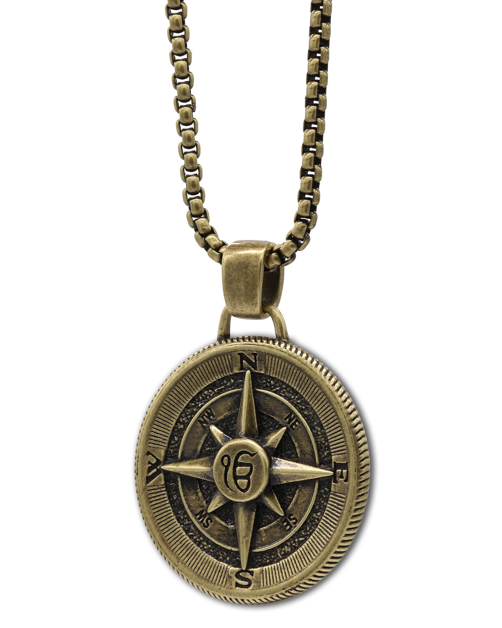Ek Onkar Compass Pendant Necklace