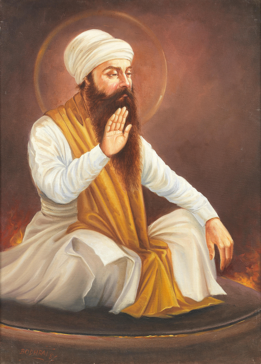 Guru Arjan Dev Painting by Bodhraj (1900s)
