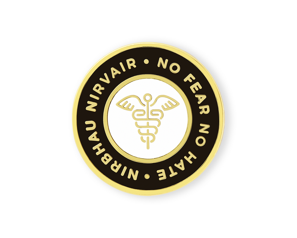 Nirbhau Nirvair Caduceus Medical Pin *NEW*
