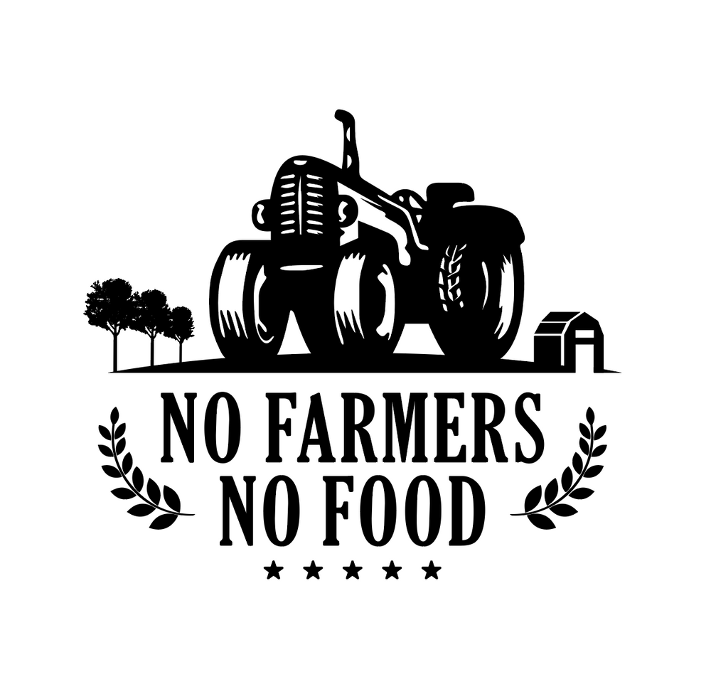 No Farmers No Food Art #1 - Tractor - FREE Digital File