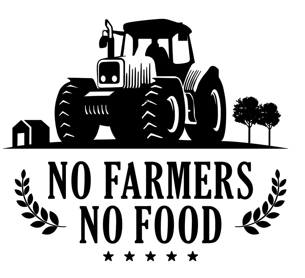 No Farmers No Food Art #2 - Tractor - FREE Digital File