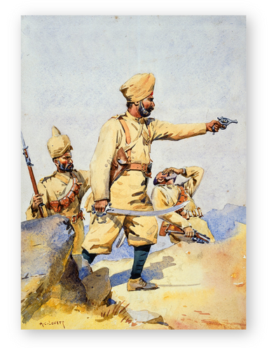 Soldiers of 24th Punjab Regiment c.1908
