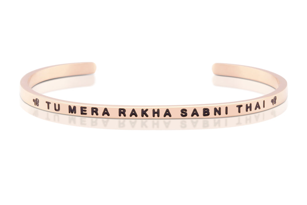 Tu Mera Rakha Rose Gold Band - Sikhexpo