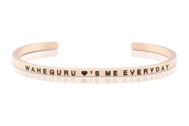 Waheguru Loves Me Everyday Rose Gold Band - Sikhexpo