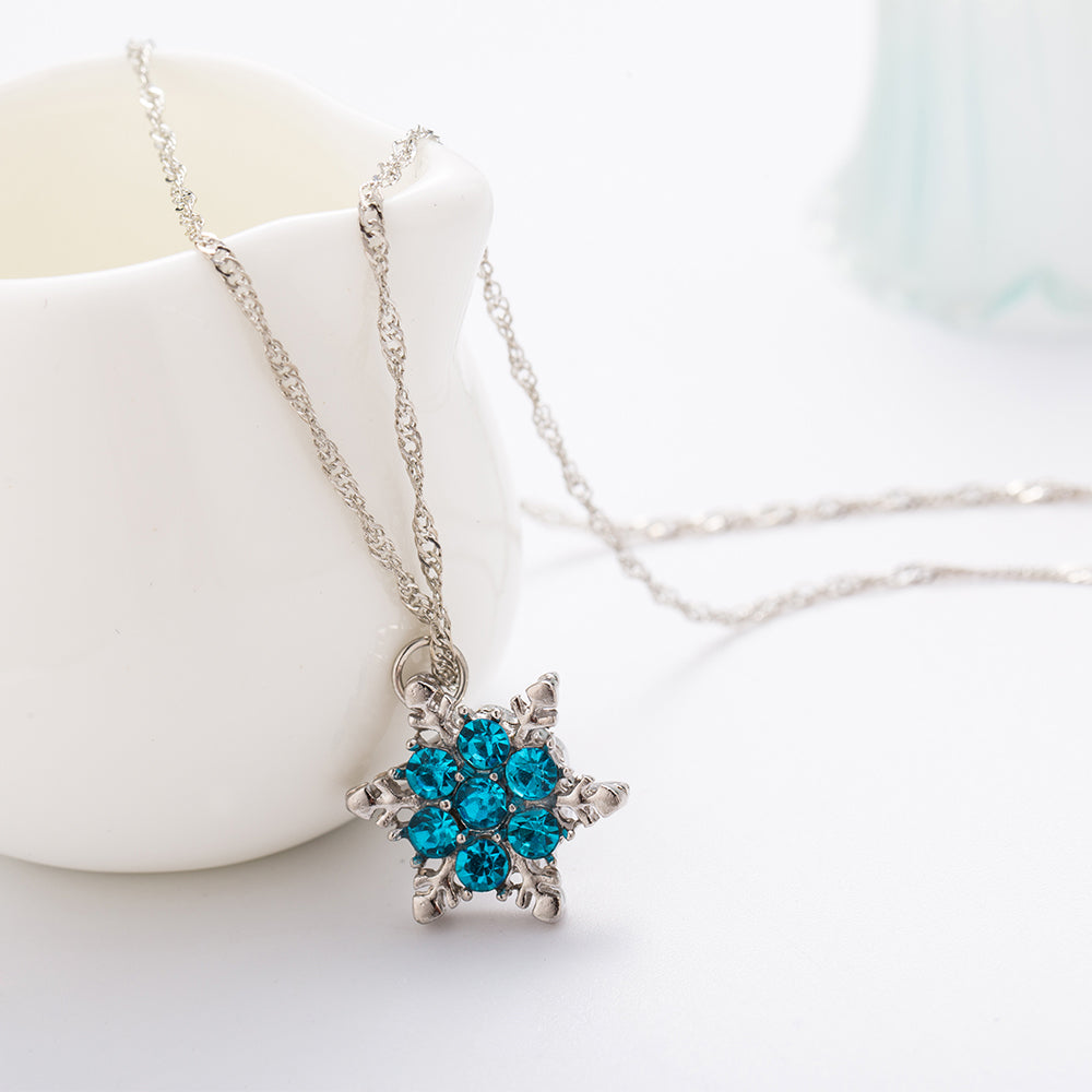Blue Crystal Christmas Pendants