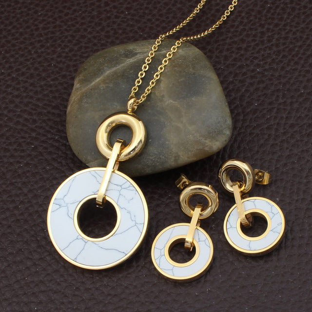 Stainless Steel fashion Necklace sets