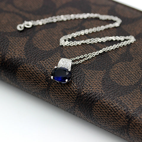 Dark Blue Cubic Zircon Necklaces | Christmas gift