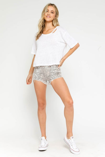 Cat Eyed Leopard Shorts