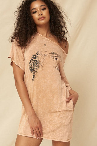 Get Em Tiger Tee Shirt Dress
