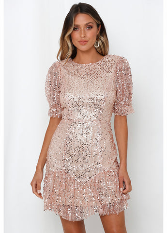 All Eyes On Me Sequence Dress