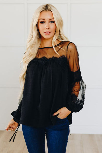 Delicate Lace Detail Blouse
