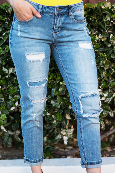 All Patched Up Distressed Denim