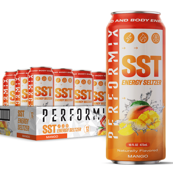 SST Energy Seltzer - Naturally Flavored, 0 Calories, 0 Sugar - Caffeine, Taurine and L-Carnitine