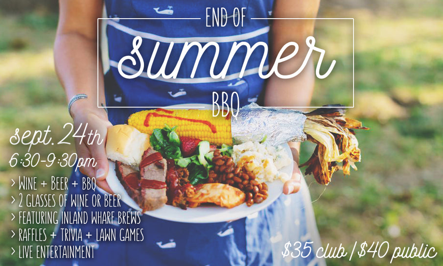 Join us for our End of Summer BBQ!