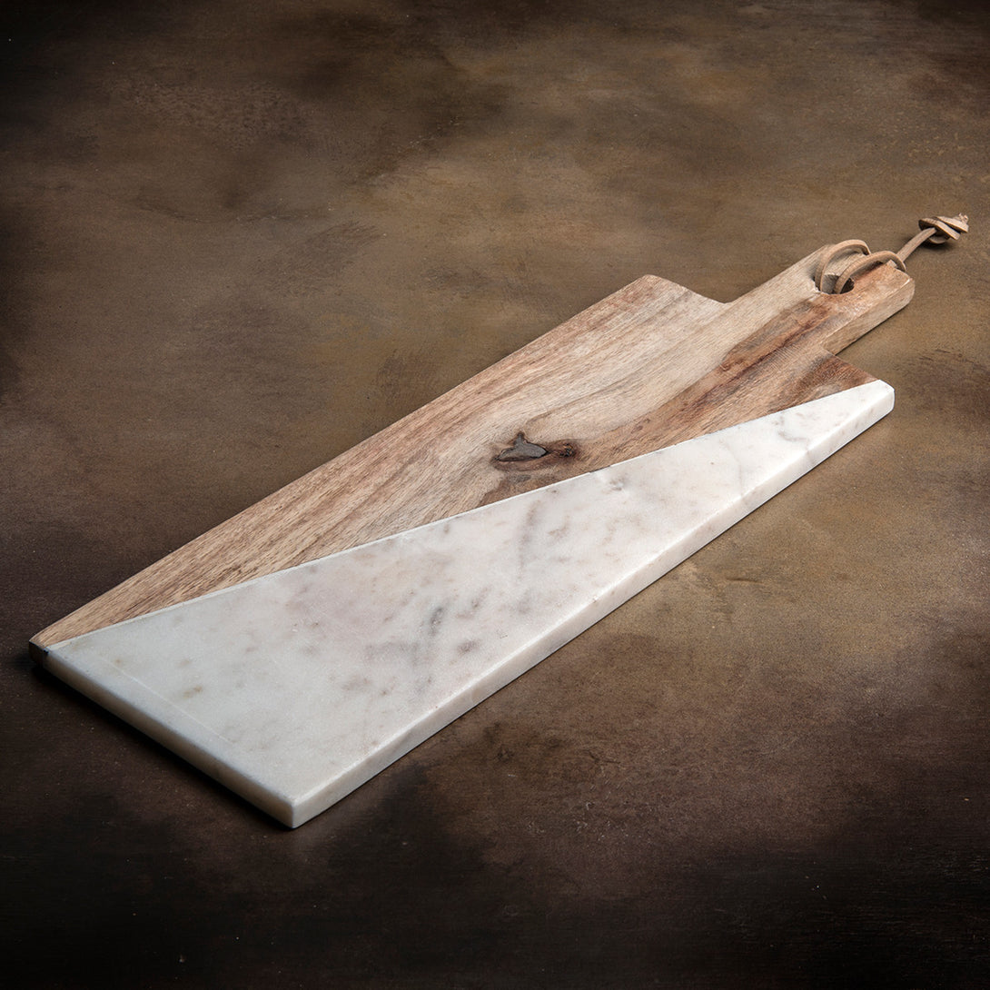 Marble & Indian Rosewood Cheese Board