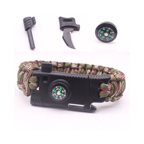 Military Outdoor Paracord Survival Bracelet 550 LB