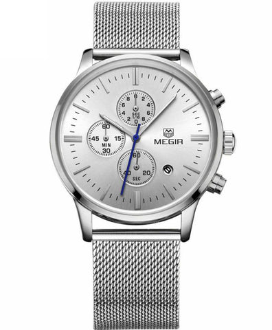 The Mesh Chrono Silver