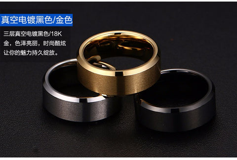 Ring Men Women Titanium Black