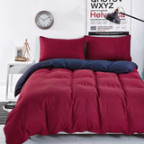 New Bedding Sets Smoked Purple Simple Color Lake Bed Sheet