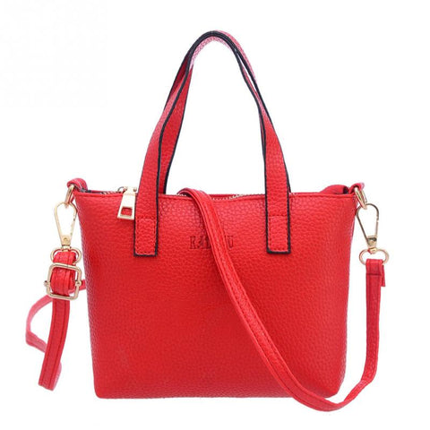 Leather Handle Tassel Tote Women's Hand Bag