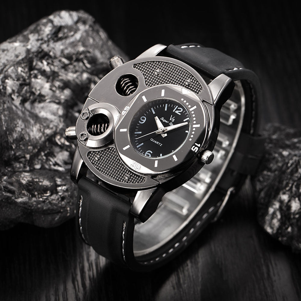 Fashion Men's Thin Silica Gel Sports Quartz Watch