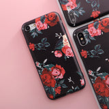 Relief TPU case For iphone 7 8 7/8 plus 5 5s SE