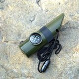 LED lamp Compass Thermometer Flashlight Magnifier 7 in 1
