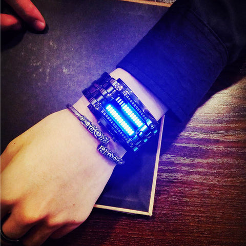 Steel Luminous LED Electronic Sports Smart Watch