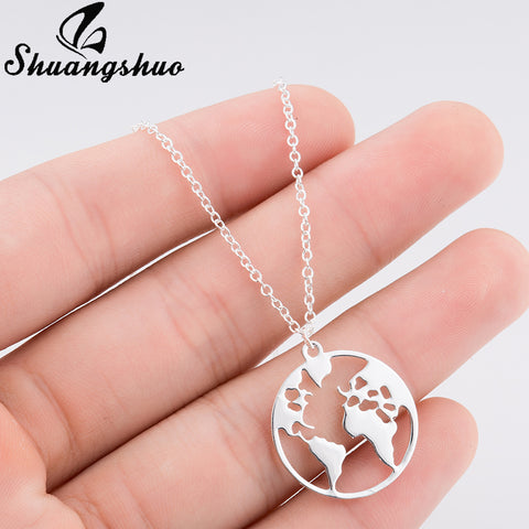 Women Geometric Round Necklace and Pendants