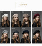 Winter Hat Berets New Wool Cashmere  Womens Warm Brand Casual High Quality Women's Vogue Knitted  Hats For Girls Cap