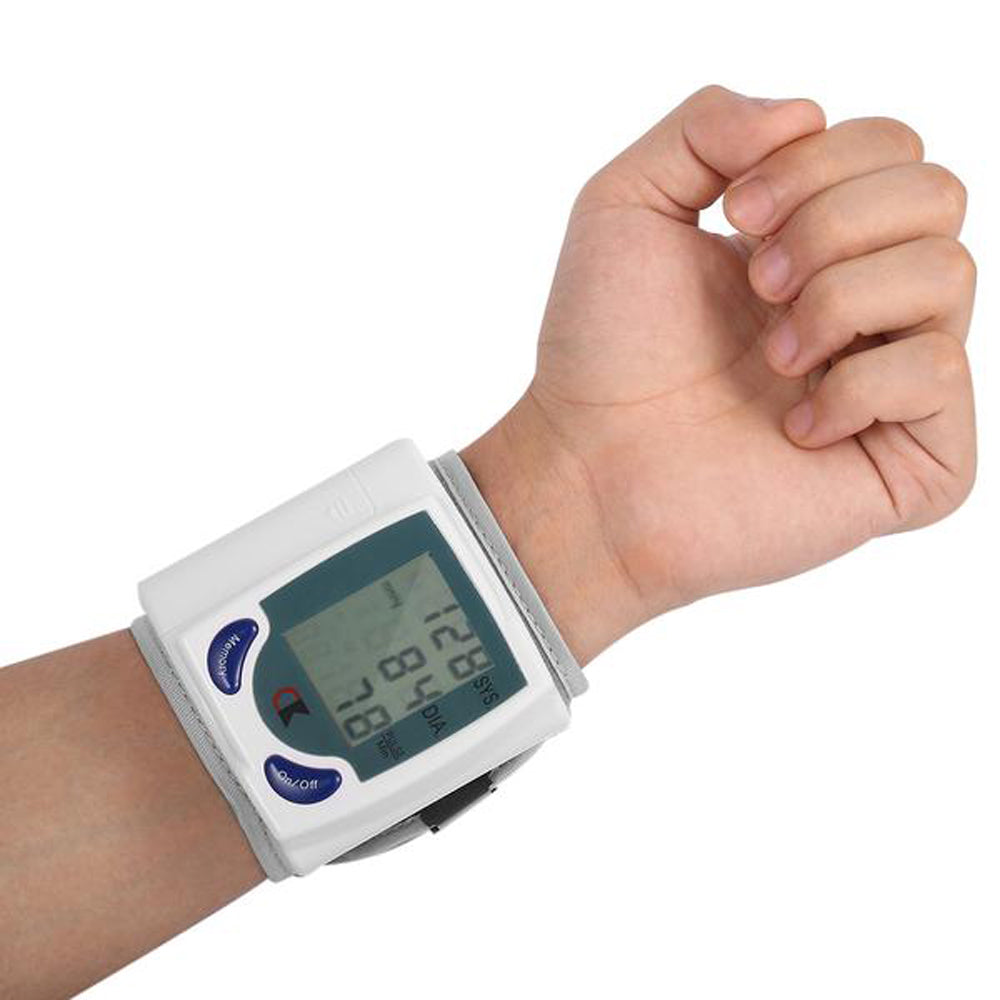 Digital Wrist Blood Pressure Monitor for Measuring Heart Beat Pulse Rate