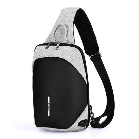 Fashion Chest Pack Casual Shoulder Cross body Bag USB Charging Chest Bag Water Repellent