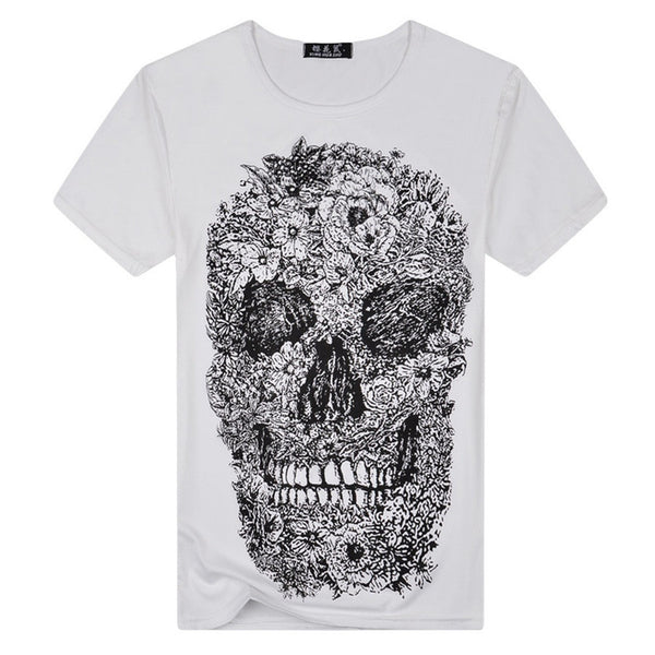 HISBST-Mens Shirt Intricate Skull Design