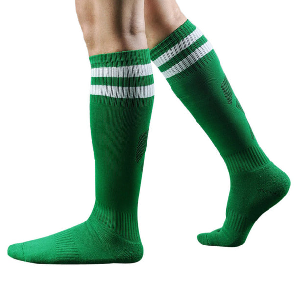 HISBST-Classic Striped Crew Mens Sport Socks in all your favorite colors